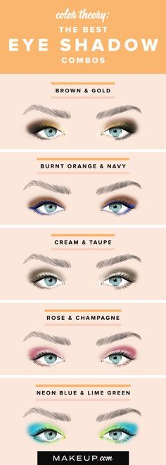 Doing pretty eye shadow doesn't have to be complicated! We have pretty eye shadow color duos that look great and that are simple to do if you want an easy eye makeup look!: