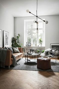 Amazing Modern Living Room Scandinavian Decoration for Your Home Beautiful Living Rooms, Small Living Rooms, Living Room Modern, My Living Room, Living Room Interior, Home And Living, Living Room Designs, Living Room Decor, Interior Livingroom