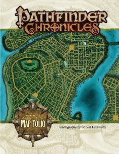 Pathfinder Chronicles: Curse of the Crimson Throne Map Folio | Book cover and interior art for Pathfinder Roleplaying Game - PFRPG, 3rd Edition, 3E, 3.x, 3.0, 3.5, 3.75, Role Playing Game, RPG, Open Game License, OGL, Paizo Inc. | Create your own roleplaying game books w/ RPG Bard: www.rpgbard.com | Not Trusty Sword art: click artwork for source