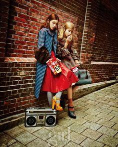 Backstreet Girls, Vogue Girl September 2013; Kang So-young, Choi Ah-ra
