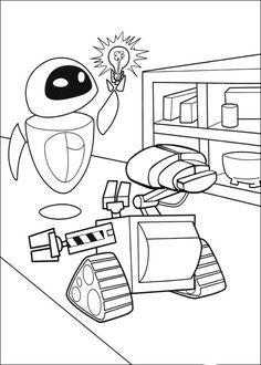 Wall-E Tegninger til Farvelægning. Printbare Farvelægning for børn. Tegninger til udskriv og farve nº 14