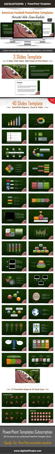 American Football House Music Pinterest American football - football powerpoint template