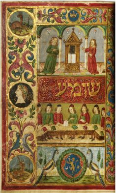 A mahzor (Jewish holiday prayerbook). Illuminated Renaissance manuscript in Hebrew on vellum from Tuscany or Florence, c. Medieval Art, Ancient, Book Of Kells, Illustrated Manuscript, Painting, Illuminated Manuscript, Art, Jewish Art, Art History