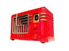 Vintage 1937 Fada Red Catalin Radio