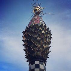 A whimsical tower in Eugene Oregon. #publicart #eugene