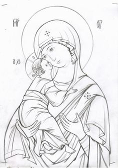 Cute Cartoon Drawings, Cartoon Icons, Religious Icons, Religious Art, Writing Icon, Coloring Books, Coloring Pages, Paint Icon, Illumination Art