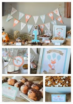 Woodland Friends Birthday Party Ideas. Boy or Girl, and so sweet for a first 1st birthday!  http://fantabulosity.com
