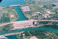 Image detail for -Aerial View of the Robert Moses Power Plant,