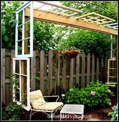 Window pergola angled 9738