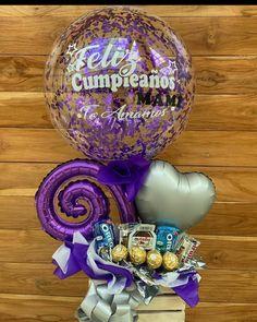 Balloon Arrangements, Balloon Decorations, Balloon Basket, Valentines Balloons, Birthday Surprise Boyfriend, Balloon Bouquet, Diy Birthday, Paper Gifts, Kids Decor