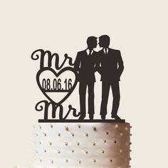 Gay Wedding Cake Topper Gay Cake Topper His and by CakeTopperMart