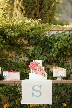 Dessert Table and Wedding Cake Display by Ashlee Raubach Photography
