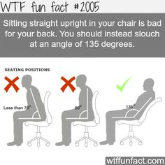 Dont sit at a 90 degree angle.
