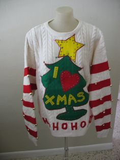 Small Medium Large Xlarge Grinch for your Ugly Christmas Sweater Party  Sweatshirt The grinch handmade