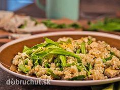 Zeleninové rizoto s bazalkovým tofu
