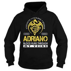 ADRIANO Blood Runs Through My Veins - Last Name, Surname TShirts