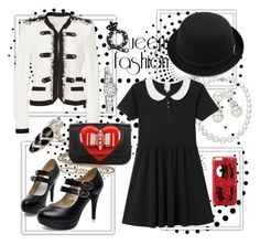 """""""Untitled #56"""" by fairy921 ❤ liked on Polyvore featuring Rebecca Taylor, Christian Louboutin, Tiffany & Co., Monki, Chiara Ferragni and Hamilton"""