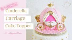 Cinderella Cupcakes, Princess Cupcakes, Cinderella Birthday, Fondant Flower Tutorial, Cake Topper Tutorial, Cake Toppers, Cinderella Carriage, Princess Carriage, Carriage Cake