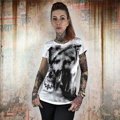 9a9f5f9b04bb Yakuza NO LIGHT dámske tričko GSB 10110 White Streetwear