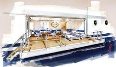 Interior Handmade Sketch Yacht