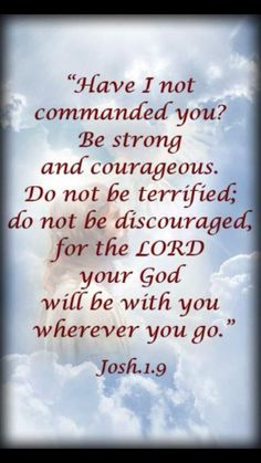 ❥ Be Strong and of good courage !