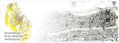 Cathedrale de Reims / Cathedrale des Sacres en Champagne: reconstitution de la cathédrale carolingienne.- ARCHITECTURE CAROLINGIENNE, 2: La redécouverte de traités d'architectes anciens tels Vitruve, ainsi que la fréquentation de la cour des Carolingiens de Wisigoths délogés par l'invasion musulmane ou d'artistes byzantins fuyant l'iconoclasme entrainent l'afflux de connaissances techniques et artistiques.