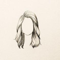 cabelo desenhos drawing desenho ondulado easy desenhar sketch manga molde como boneca arte moda rostos dibujo drawings meio feltro sketches