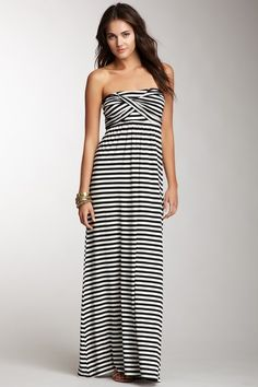 Wrapped Bust Strapless Maxi Dress by S.H.E. on @HauteLook