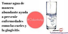 Tomando agua de manera abundante evitas el desarrollo de caries y de la gingivitis #Odontotip