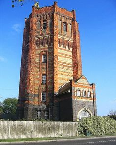 Victorian water tower - photo by helenoftheways, via Flickr; built in 1904 in Finedon, Northamptonshire, England