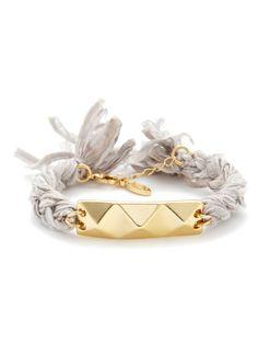 Grey & Gold Triple Pyramid Braided Bracelet by Ettika Jewelry on Gilt.com