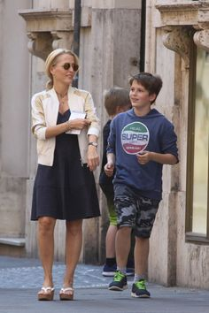 Gillian Anderson (and son)