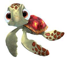 sea turtle in nemo Sea Turtle Finding Nemo, Turtle Painted Rocks, Disney Quilt, Baby Sea Turtles, Turtle Painting, Disney Animation, Disney Pixar, Disney Cars, Disney Drawings