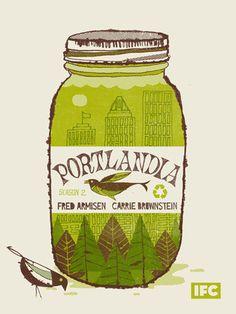 Portlandia poster by Methane Studios