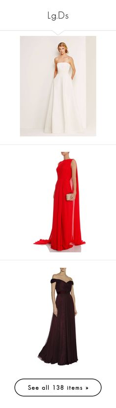 """""""Lg.Ds"""" by duchessq ❤ liked on Polyvore featuring dresses, gowns, gown, long evening dresses, red sheer dress, red evening dresses, long ball gowns, red ball gown, tulle evening gown and off shoulder evening gown"""