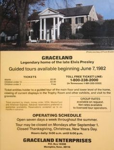 the giuded tours 1982