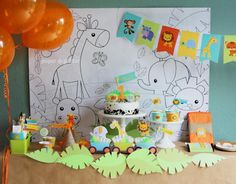 Kara's Party Ideas Jungle Themed 1st Birthday Party | Kara's Party Ideas