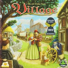 This is Village The Board Game that is produced by TMG. Village is a very unique and in-depth board game that incorporates time, the life and eventual perishing of family members, and the quest for ho