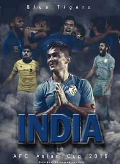 Indian football team in Asia Cup National Sports Day, National Football Teams, Sunil Chhetri, Afc Asian Cup, Cristiano Ronaldo Wallpapers, Asia Cup, Leonel Messi, Team Wallpaper, Cute Love Images