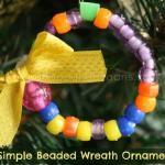 beaded wreath ornament