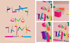 Origami Paper - Experimental Typography