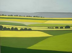 "Saatchi Art Artist Jan Rippingham; Painting, ""Surrey Landscape 9"" #art"