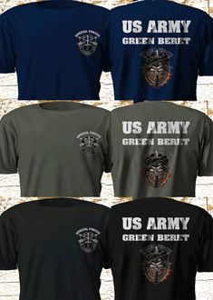 Green Beret US Army Special Forces Military Navy Seal Multi Color T-Shirt S- 579a70f67fe