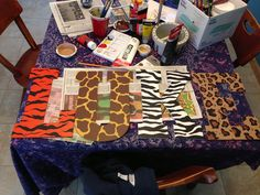 Jungle themed letters painted for Luke's bedroom.