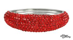 Light Siam/Silver Pave Front Hinged Bangle.