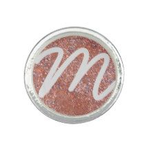 Red Clay Court, Tennis Sports Love Ring Monogram