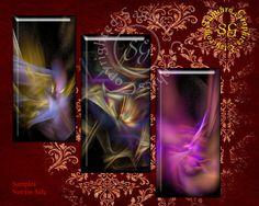 Fractal Lights Dominos  Digital Collage Sheet  by SaguaroGraphics, $4.35