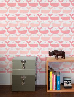 Whales Wallpaper in Bloom for Kids | Nursery | Children's Spaces