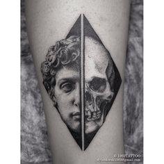 Body Art black and white Great Tattoos, Unique Tattoos, Beautiful Tattoos, Skull Tattoos, Black Tattoos, Body Art Tattoos, Piercing Tattoo, Piercings, Tattoo Studio
