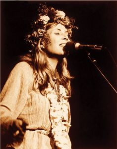 This may be my favorite ever Joni stage outfit.   via Mouth Like Bukowski;